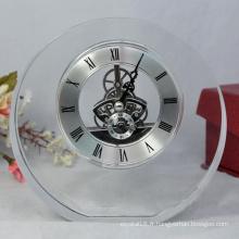 Horloge en cristal populaire de bureau de vente chaude pour le cadeau de promotion