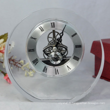 Popular Hot Selling Desk Crystal Clock for Promotion Gift