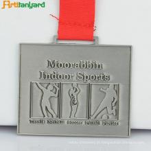 Medalha de esporte de liga de zinco de alta qualidade