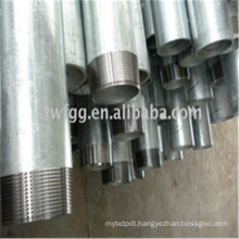 ZN PLATED HOT DIPP GALVANIZED RIGID STEEL CONDUIT PIPE TUBE FACTORY EXPORT TO DUBAI