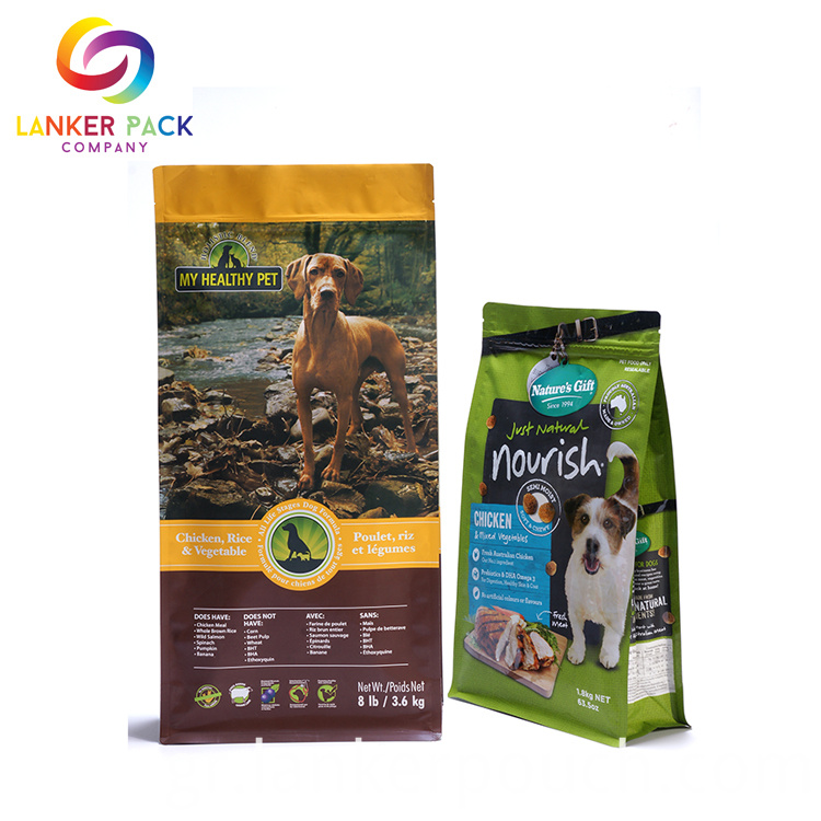 Waterproof Reusable Pet Food Packing Plastic Zipper Bag