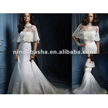 Русалка Аппликация Атласная Свадебное Платье