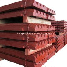 OEM Mining Parts Backenbrecher-Seitenplatten Wangenplatten