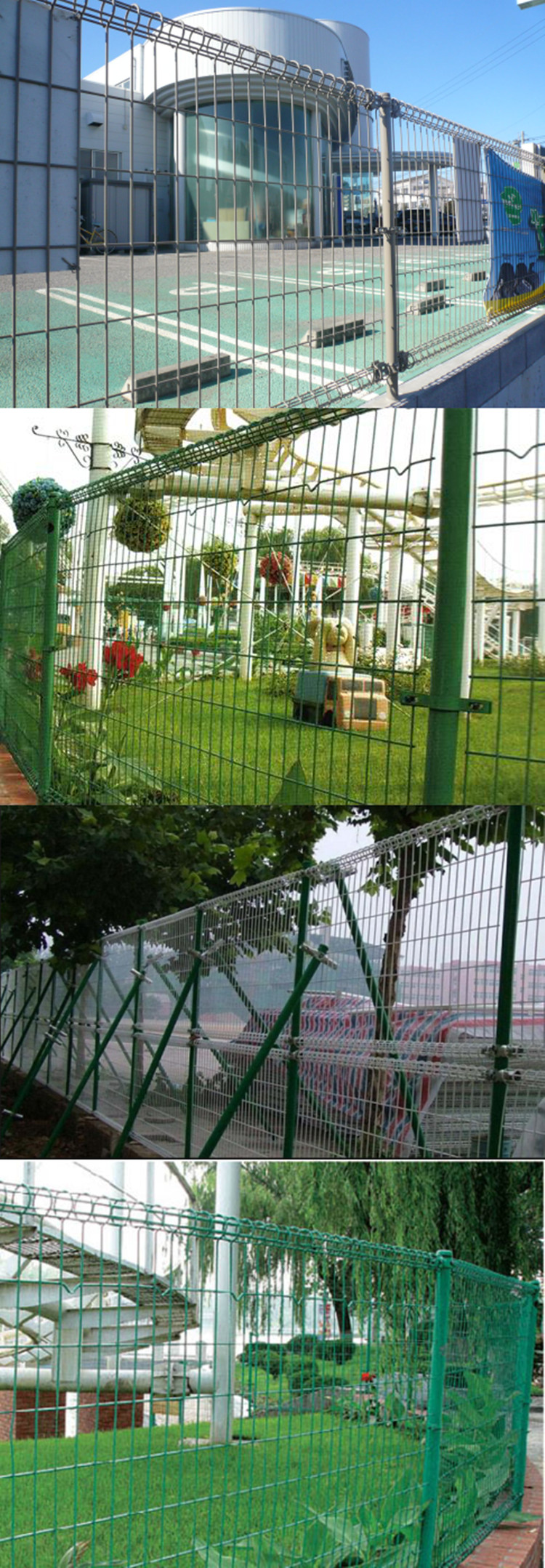 Powder Coated Double Loop Welded Wire Garden Fence China Manufacturer