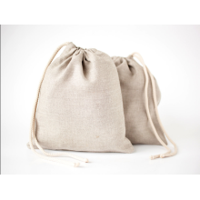 Top open drawstring jute storage bag