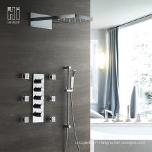 Mitigeur thermostatique à quatre fonctions de bain et douche