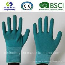 Nylon Latex Luvas de proteção de trabalho Luvas de segurança Luvas de látex