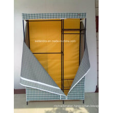 Portable Non Woven Canvas DIY Cloth Wardrobe Storage 4 Shelves
