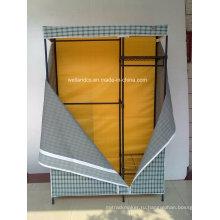 Портативный Non Woven холст DIY ткани гардероб хранения 4 Полки