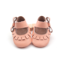 Lovely Girl Girl Dress Chaussures à semelle souple en cuir