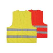 Colete de segurança com zíper amarelo de alta visibilidade