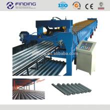 Cubierta metálica de estructura de acero fabricante rodillo formando piso máquina acero Deck lamina antigua maquinaria