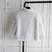 Хорошая цена роскошные женские реальный меха норки пальто на продажу