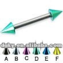 Bijoux en pierres à double cône en acier inoxydable