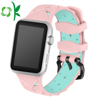 Double Warna Valentine Watch Tali silikon Iwatch Bands