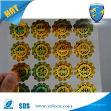 Anti-falsificación Etiqueta autoadhesiva de la etiqueta engomada del holograma 3d de la alta calidad