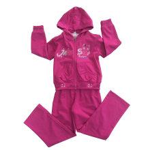 Девушки мода Спортивная одежда французская Детская одежда махровый спортивный костюм (РГС-115)