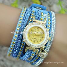 Neue Ankunft chinesische preiswerte Uhren Armbandlederbanduhr