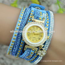 new arrival chinese cheap watches bracelet leather band watch
