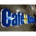 Tienda de publicidad de resina epoxi con iluminación frontal LED Cartas de canal Signo de alfabeto