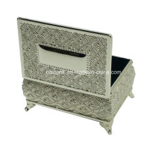 Silver Jewelry Keepsake Box, Metal Keepsake Jewelry Box