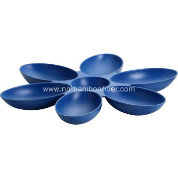 Bamboo fiber nut plate candy plate fruit plate