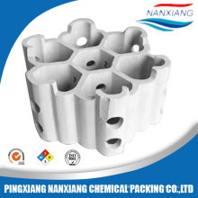 light micro pores ceramic structured packing of seven link pores ring