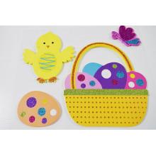 KIDS Easter Egg Wall stickers eva feuille de mousse de paillettes