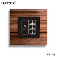 Écran tactile avec interrupteur d'éclairage 3 bandes avec contrôle principal (HR1000-WD-L3M)