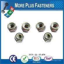 Fabriqué en Taiwan M5-0.8 Noix de verrouillage en acier inoxydable de qualité A2 DIN 980