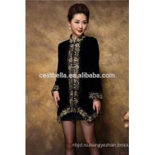 оптовая мода вышитые дамы платье пальто пальто для российской дамы