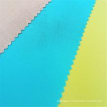 Tissu de tissu de popeline 100% rayonne teinté sur mesure