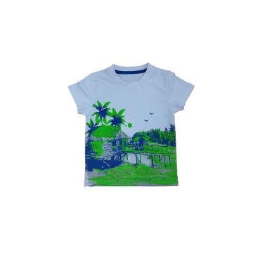 T-shirt agradável do menino do estilo na roupa dos miúdos (BT014)