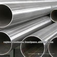 Tubo / tubo de acero inoxidable de alta calidad 201 soldado con longitud personalizada