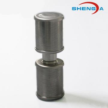 Boquilla de filtro de doble cabezal para sistema de ablandador de agua
