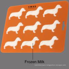 Silicone Chocolate Mold tray Dachshund Dog Shaped with BPA Free