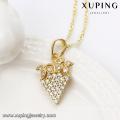 31082 xuping moda indiano jóias diamante morango pingente