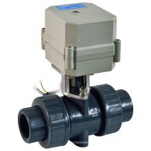 Válvula de bola del agua del PVC del control eléctrico del flujo de la válvula del PVC del actuador eléctrico inteligente (A100-T25-P2-C)