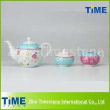 Service à thé en porcelaine 3PCS en gros