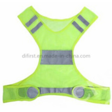 High Quality Running Safety Vest with Reflective Material