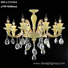 wholesale candle chandelier crystal hanging lighting