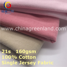 100% Combed Cotton Knitted Jersey Fabric for Garment Textile (GLLML412)