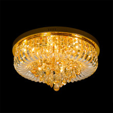vintage gold crystal ceiling light
