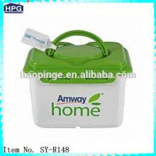 Plastic storage portable tool box