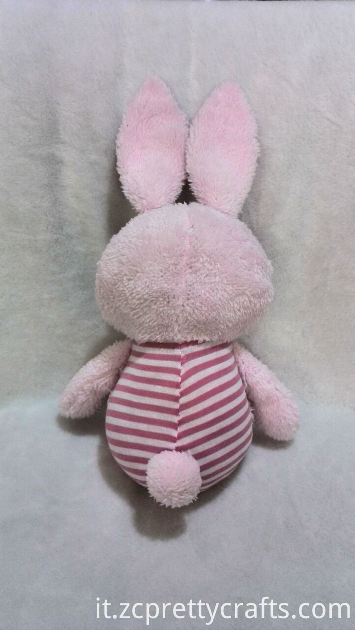 Pink And White Rubbit Plush Toy