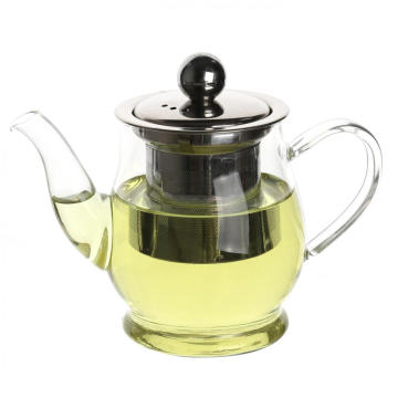 Hand Blown Pyrex Glass Teapot with Filter