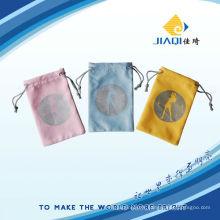 Logo imprimé sac à microfibre cordon
