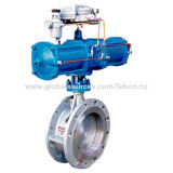 Pneumatic butterfly valve, piston regulatesNew