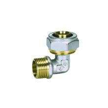Ktm Elbow Male (Hz8021) à partir de raccords de tuyaux en Pex-Al-Pex, utilisé pour les tuyaux Pex-Al-Pex, Pert-Al-Pert, les tubes en PEHD et les tuyaux en plastique