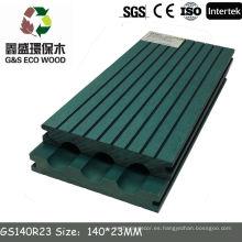 Panel de suelo de 140x25mm wpc para el suelo de la terraza precio wpc